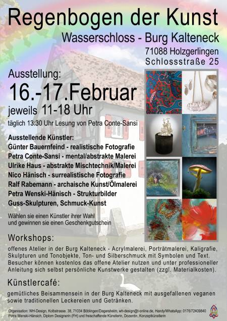 Flyer Kunstausstellung Böblingen-Holzgerlingen Wasserschlossm