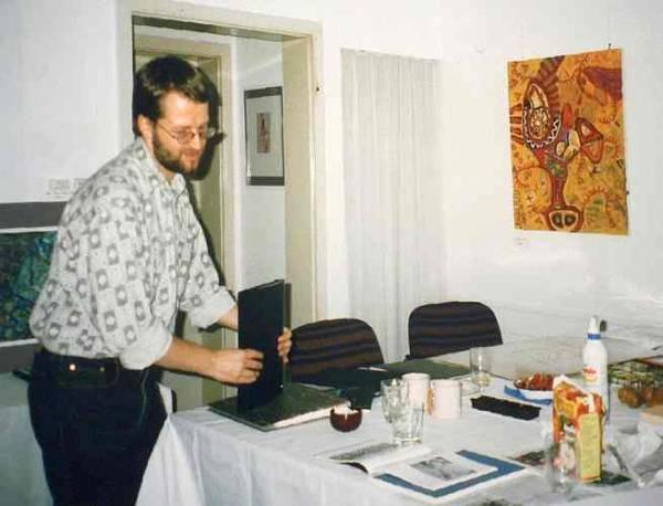 Der Künstler Rabemann im Kunstverein Böblingen